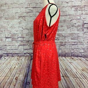 New York & Company Dresses - New York & Company Red Star Print Sleeveless Dress